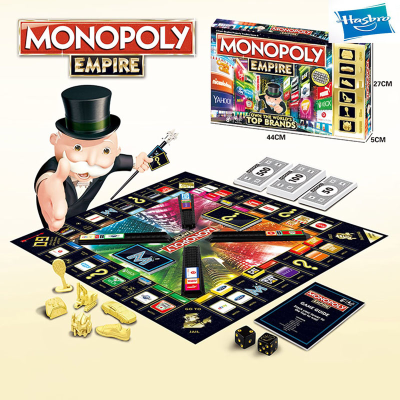 Educational Toys Classic English & Russian Monopoly Game Board Hasbro Monopoly Game Adult Family Gaming Together Popular Fans
