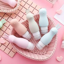 цена на Cute Silicone Refillable Empty Bottle Travel Bottle Press For Lotion Shampoo Cream Gel Cosmetic Squeeze Containers