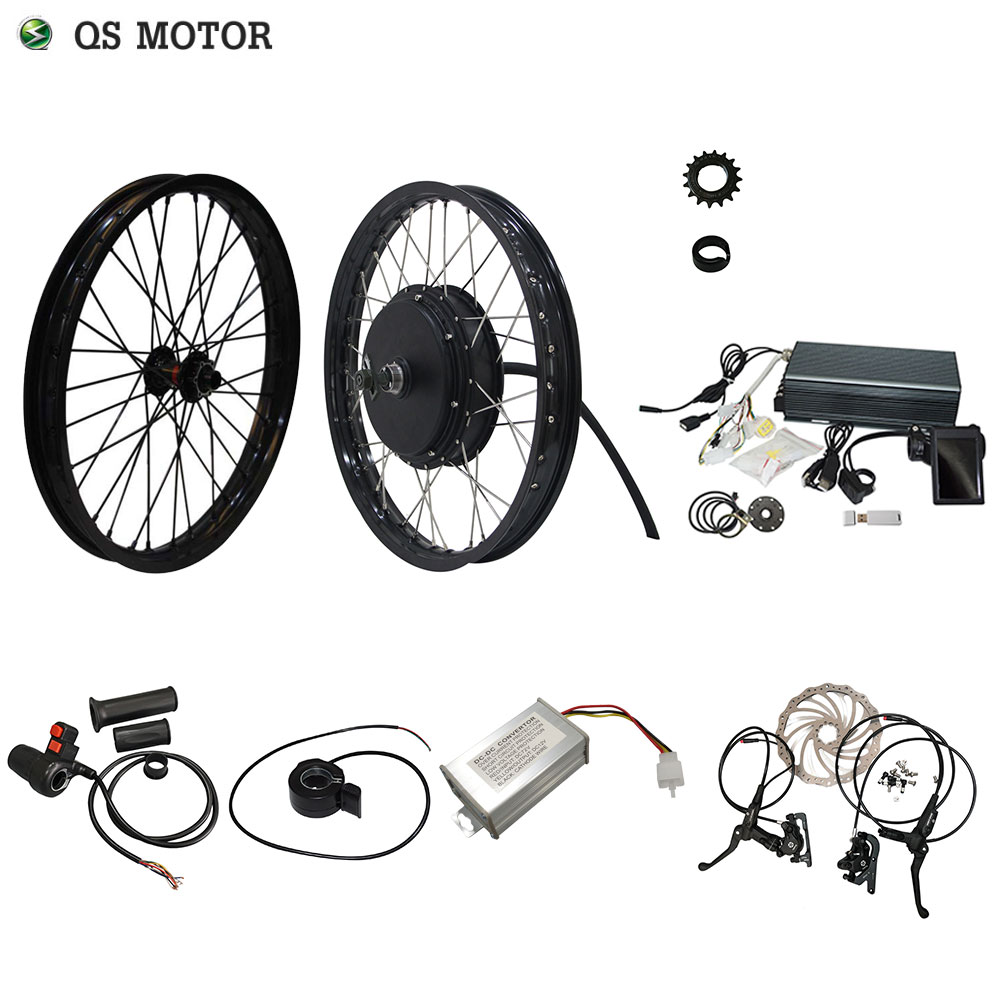 QS Motor 205 50H V3 High Power Electric Bicycle Kit Spoke Hub Motor 3000W Powerful Hub Motor Kit With TFT H6 Display