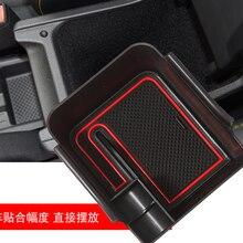 Caixa de armazenamento braço do carro para polo mk6 2018 2019 2020 controle central caixa de apoio braço acessórios interiores automóveis