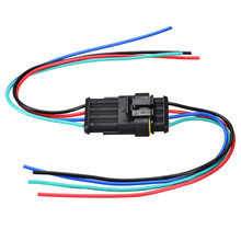 Uxcell 2 комплекта проводной HID разъем 4Pin водонепроницаемый провод жгута Разъем адаптер 54x32x19 мм размер 300V 10A