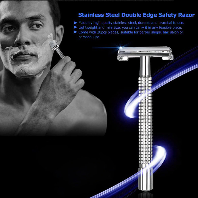 Men's Shaving Face Razor Blades Shaving Machine Safety Double Edge Razor For Men Barber Straight Razor Shaving Knives Gifts