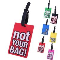 Reizen Accessoires Creatieve Bagage Boarding Tags Bagagelabel Brief Cartoon Silicagel Koffer ID Addres Houder Draagbare Label