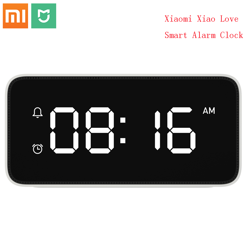 Original Xiaomi Xiao Love Smart Alarm Clock Voice Broadcast Clock ABS Table Dersktop Clocks AutomaticTime Calibration Mijia APP image