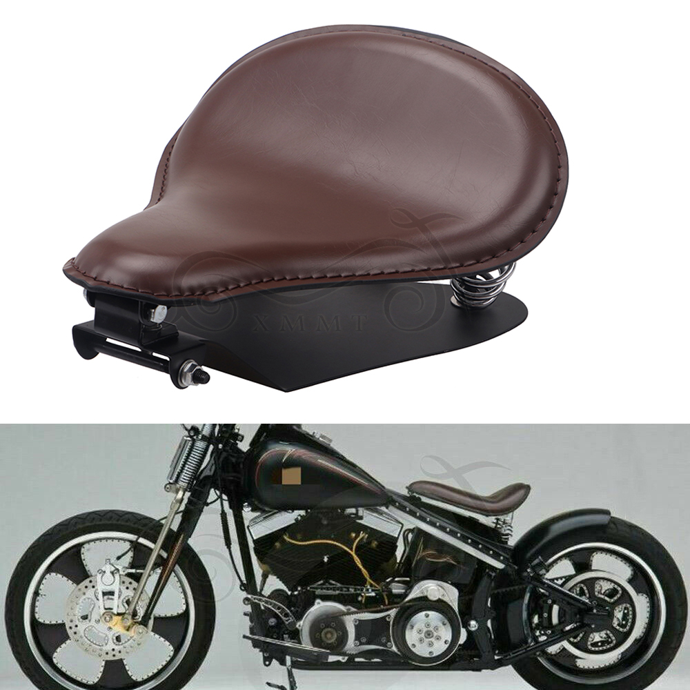 Motorbike Driver Solo Seat Rider Cushion Diamond Stitched For Harley  Cafe Racer