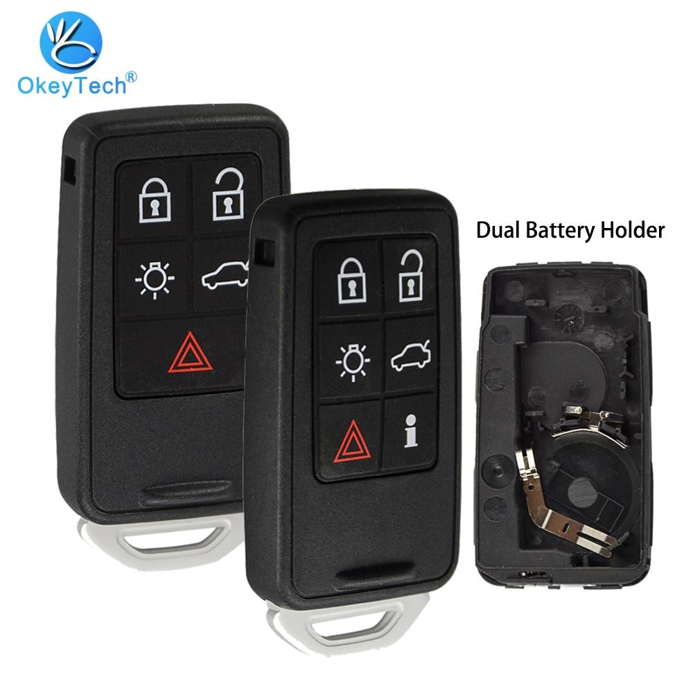 OkeyTech для Volvo XC60 XC40 S90 V40 XC70 V70 S40 V50 пульт дистанционного управления автомобиля смарт-чехол для брелка с ключом держатель замены 5 6 кнопок Pad