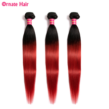 Ombre Straight Hair Bundle 100% Human Extension Non remy Brazilian Pre Colore1b/99J/27/Red/Blue/greem