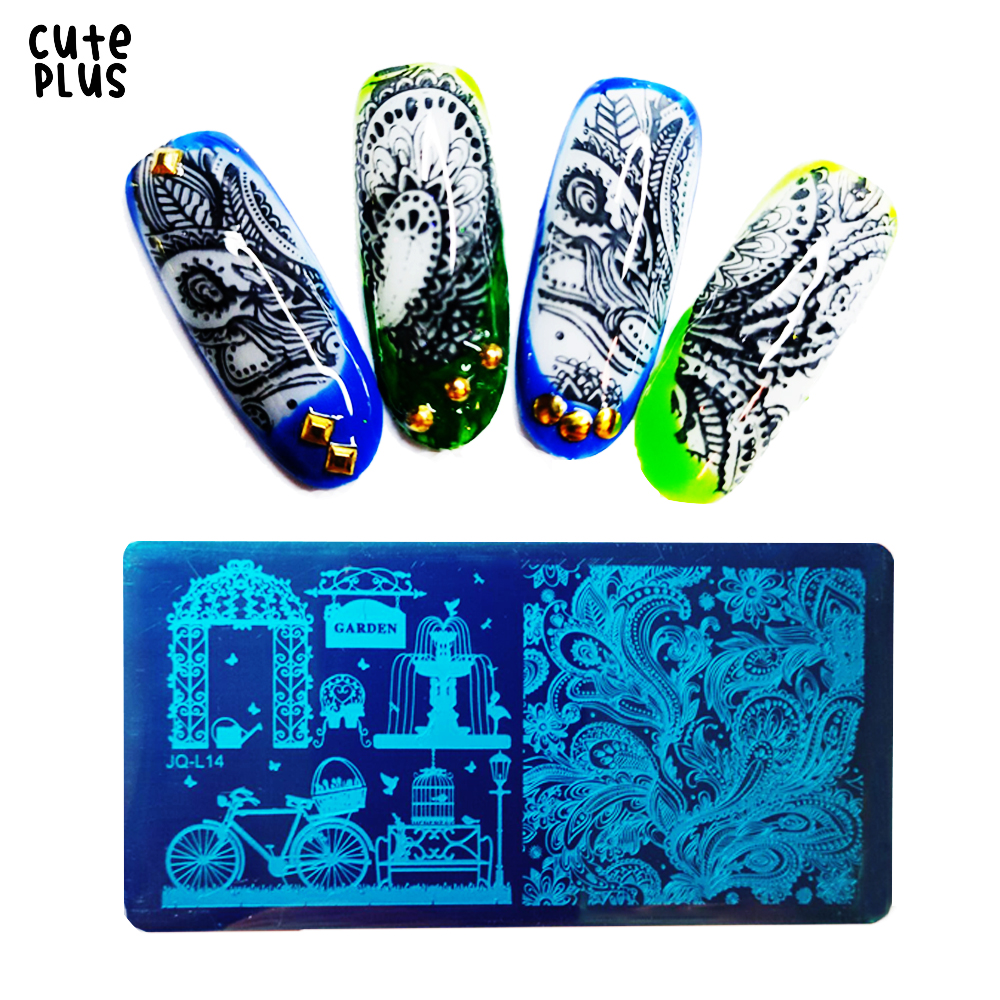 Nail Stamping Plates Marble Image Marilyn Monroe Audrey Hepburn Stamp Templates Geometric Manicure Printing Stencil Tools
