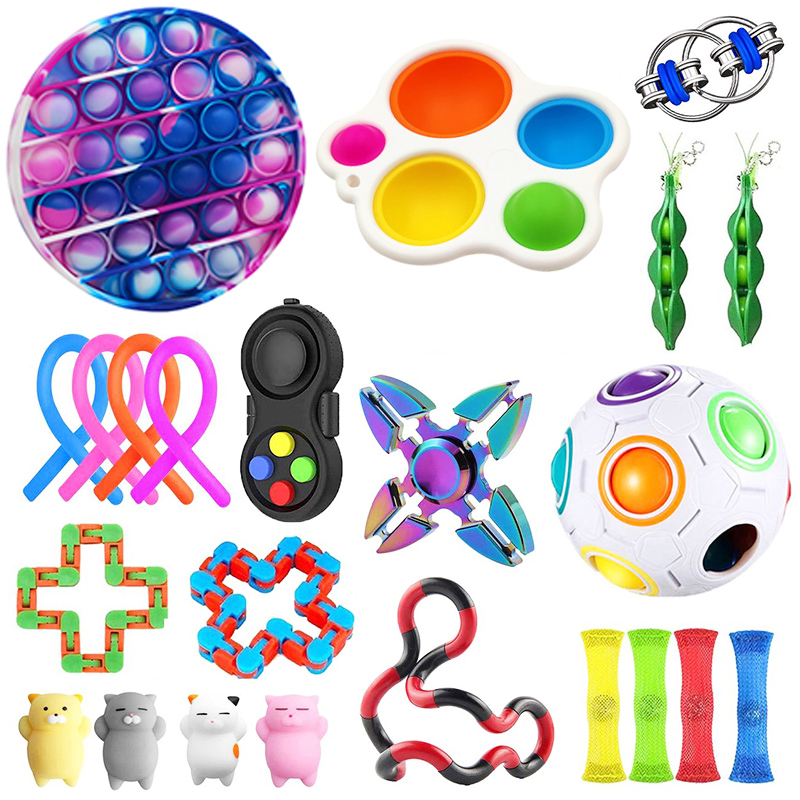Toy-Set Fidget-Toys Strings Relief-Antistress-Toys Marble Sensory Stress Girl Adults img2
