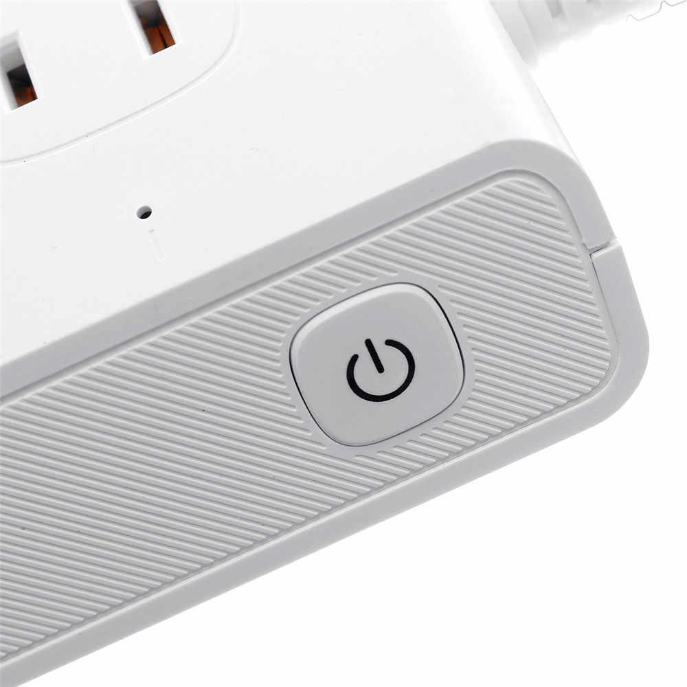 Inteligentne gniazdo WiFi US korki wielu gniazda zasilania zabezpieczenie przeciwprzepięciowe 4 porty USB gniazdo przełącznik wsparcie Alexa Google domu zegar