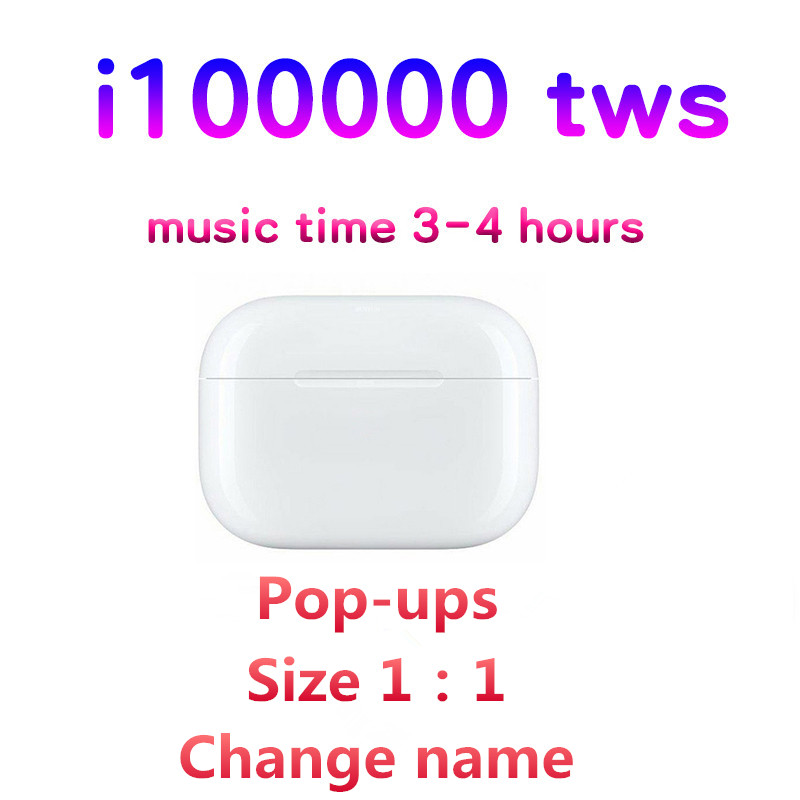 I100000 TWS Change Name Bluetooth Earphones Aire 3 Real 1:1 Squeeze Sensor Wireless Popup Earbuds HIFI Stereo PK I9000 Tws