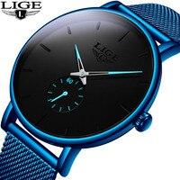 2019 LIGE новые мужские s часы лучший бренд класса люкс мужские модные простые кварцевые часы мужские спортивные водонепроницаемые спортивные