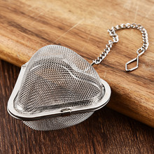 Mesh Diffuser Kitchen Tool Reusable Home Heart-Shaped Infuser Easy Clean Stainless Steel Drinkware Safe Tea Strainer Accessories(China)