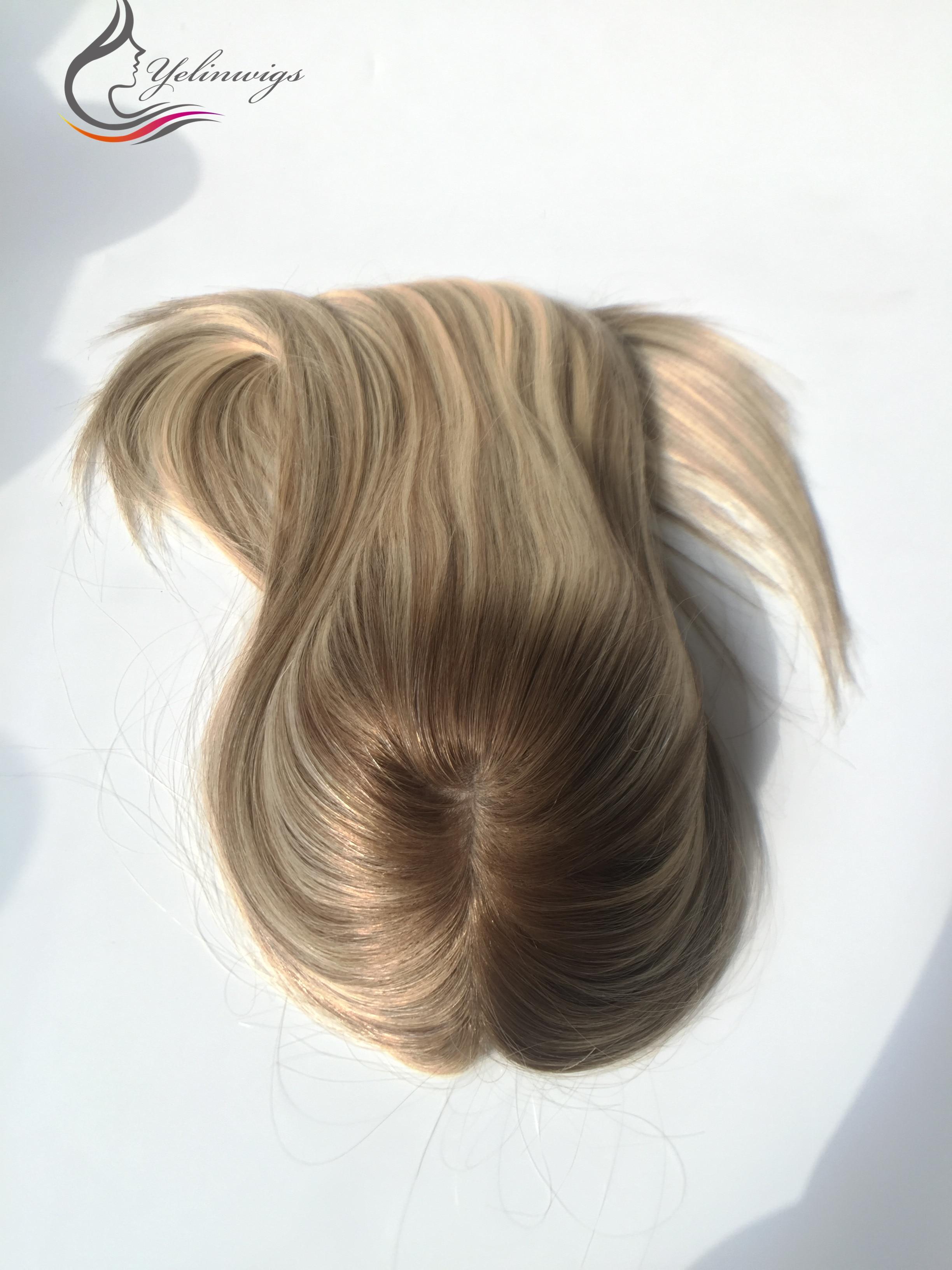 virgem cabelo toppers kippah queda para mulheres judias cabelo peças