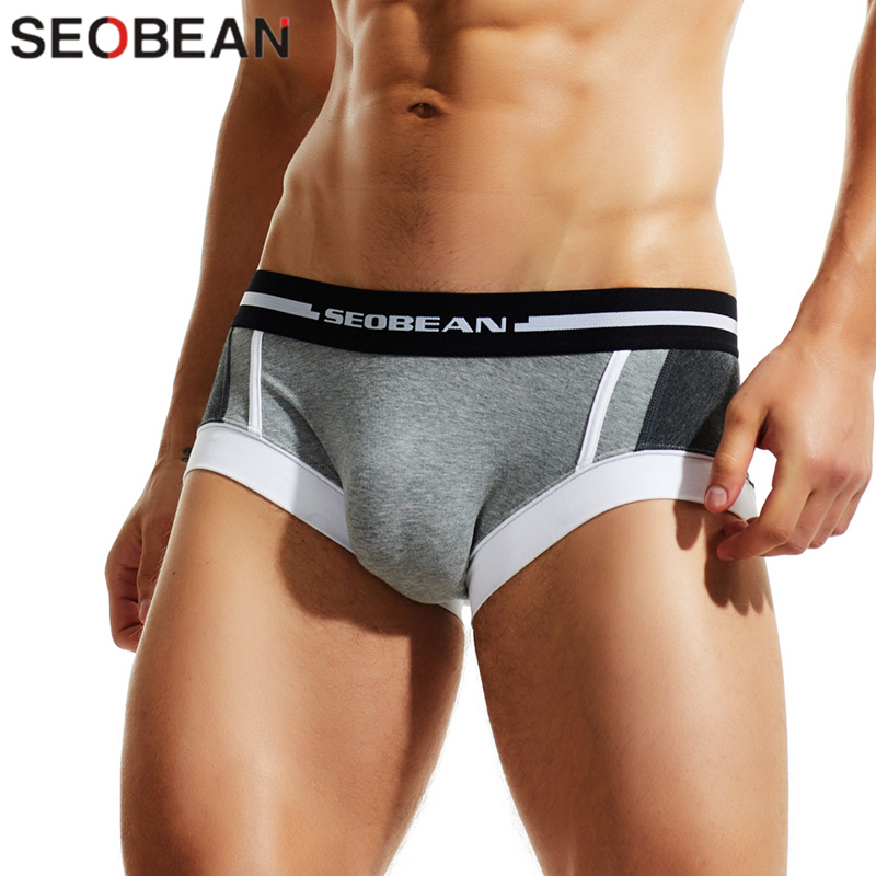 SEOBEAN Sexy Men's Underwear Boxer Shorts Breathable Fashion Underpants Boxers For Man