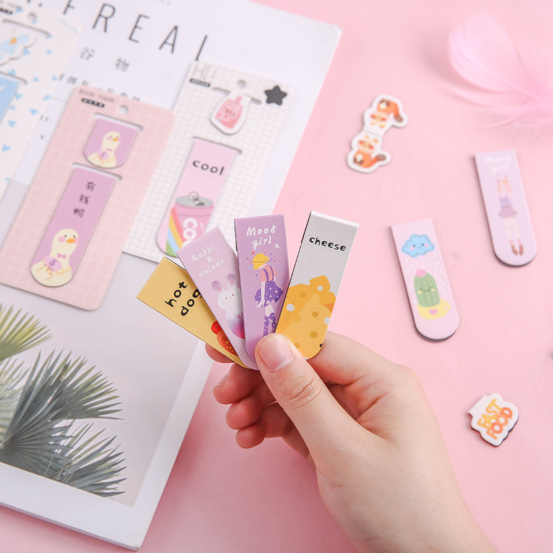 3 Pcs Magnetic Bookmark Cartoon  Duck Book Mark Message Cards Bookmark For Books/Share/book Markers/tab For Books/stationery