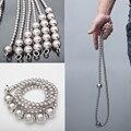 Открытый большой стальной шар самообороны браслет ожерелье из нержавеющей стали кнут титановая сталь персональный флажковый предохраните...