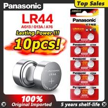 파나소닉 10pcs 2020 프로모션 새로운 1.5v LR 44 LR44 AG13 시계 건전지 Pilas GP76 L1154 LR1154 SR1154 SR44 SR44SW SR44W