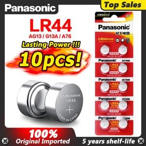 Image 1 - Panasonic 10Pcs 2020โปรโมชั่นใหม่1.5V LR 44 LR44 AG13นาฬิกาแบตเตอรี่Pilas GP76 L1154 LR1154 SR1154 SR44 SR44SW SR44W