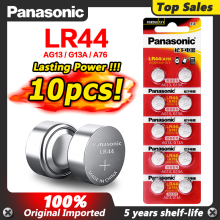 Panasonic 10pcs 2020 Promotion New 1.5v LR 44 LR44 AG13 Watch Clock Batteries Pilas GP76 L1154 LR1154 SR1154 SR44 SR44SW SR44W
