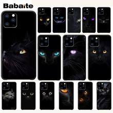 Babaite Black Cat Staring Eyes Luxury Phone Case Cover For Iphone 5s Se 6 6s 7 8 Plus X Xs Max Xr 11 Pro Max Cases Coque black cover lovely cat for iphone x xr xs max for iphone 8 7 6 6s plus 5s 5 se super bright glossy phone case