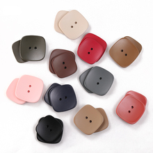 6pcs 2 Holes Square Buttons For Clothing Coat Craft Plastic Sewing Resin Button Baby kids Suit Garments 20mm 25mm Needlework JOD