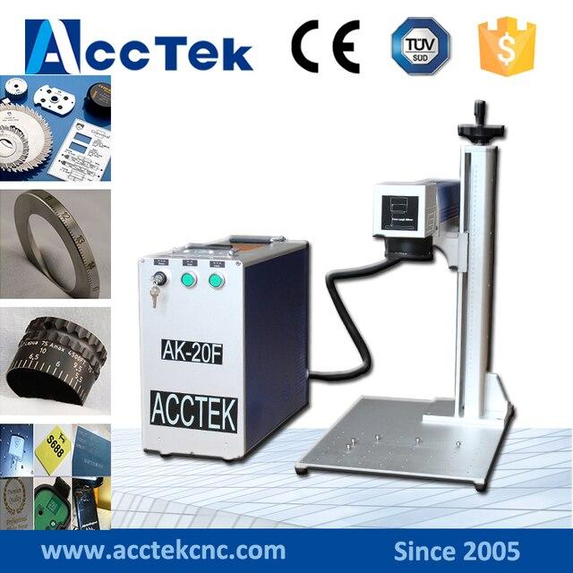 Machine de marquage en métal de laser de fibre du prix usine 20W 30W utilisée pour la gravure en laiton dargent dor en aluminium à vendre