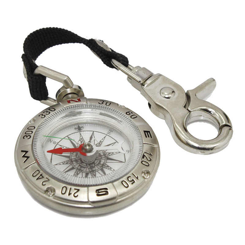 Hiking Camping Compass Portable Hanging Ring Type Outdoor Compass Handheld Key Chain Survival Compass For Backpack Mini Compass