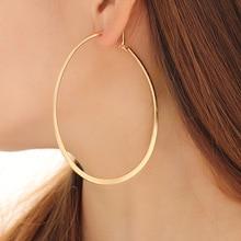 Big gold Hoop Earrings For Women 2019 metal round Irregular Geometric and silver big hoop earrings weddings party jewelry