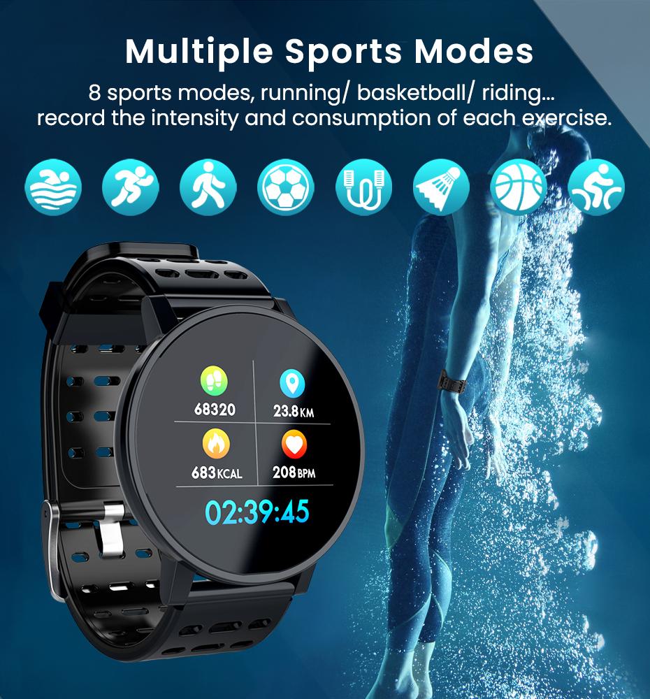 Makibes T3 IOS Android Smart Watches Men Women HR Blood Oxygen Blood Pressure IP67 Waterproof Activity Fitness Tracker PKV11 8