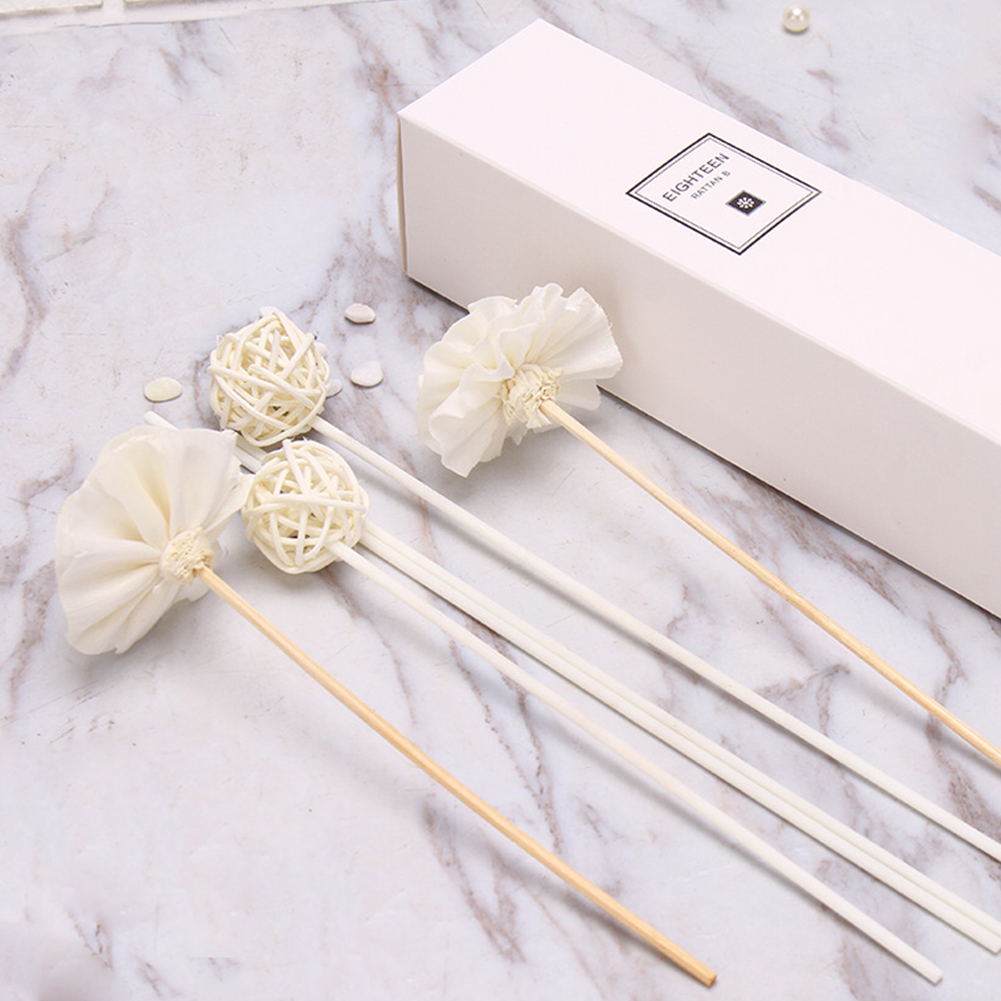 Spa Exquisite Ball Rattan Decoration Office Essential Oil Dry Flower Home Fragrance Aroma Diffuser Set Car Relieve Stress