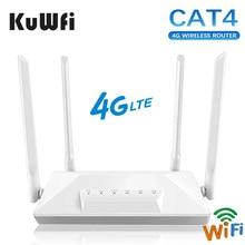 4G LTE Router Entsperrt CAT4 Wireless CPE Router Mobilen Hotspot RJ45 LAN Port Modem mit SIM Karte Slot 150mbps 4 Externe Antenne