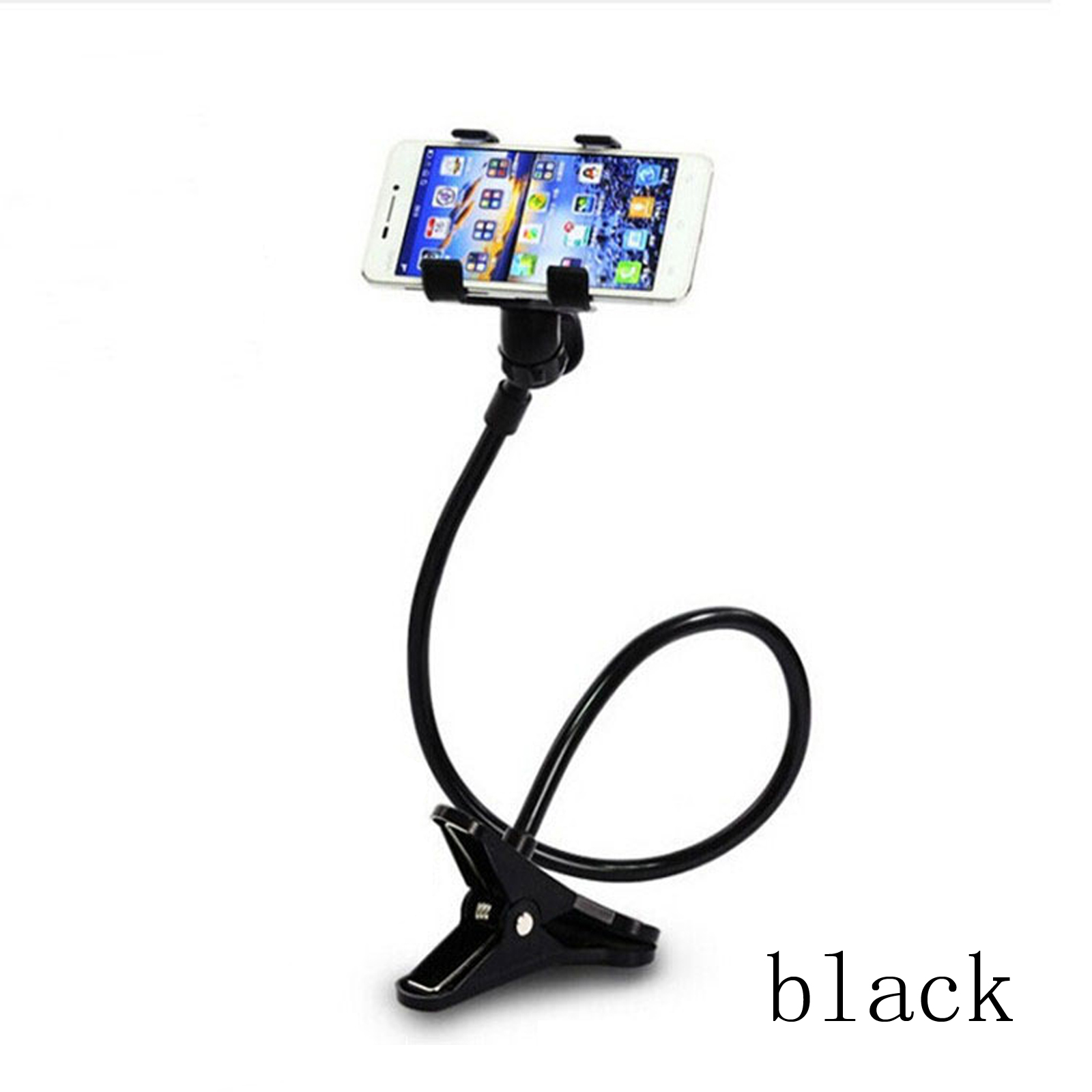 Lazy Mount Mobile Phone Holder Clam Double V Clip  Flexible 360° Goose Neck New