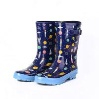 New Rain Boots Kids Girl Cute cartoon Printed Children's Rubber Boots Waterproof Baby Water Shoes