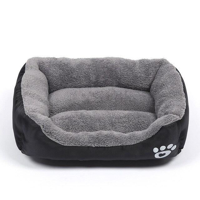 Pluche Comfort hondebed - kleur zwart 1