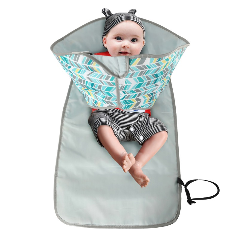 3-in-1 Baby Changing Portable Pads Multifunctional Portable Infant Baby Foldable Urine Mat Waterproof Nappy Bag Diaper Cover Mat