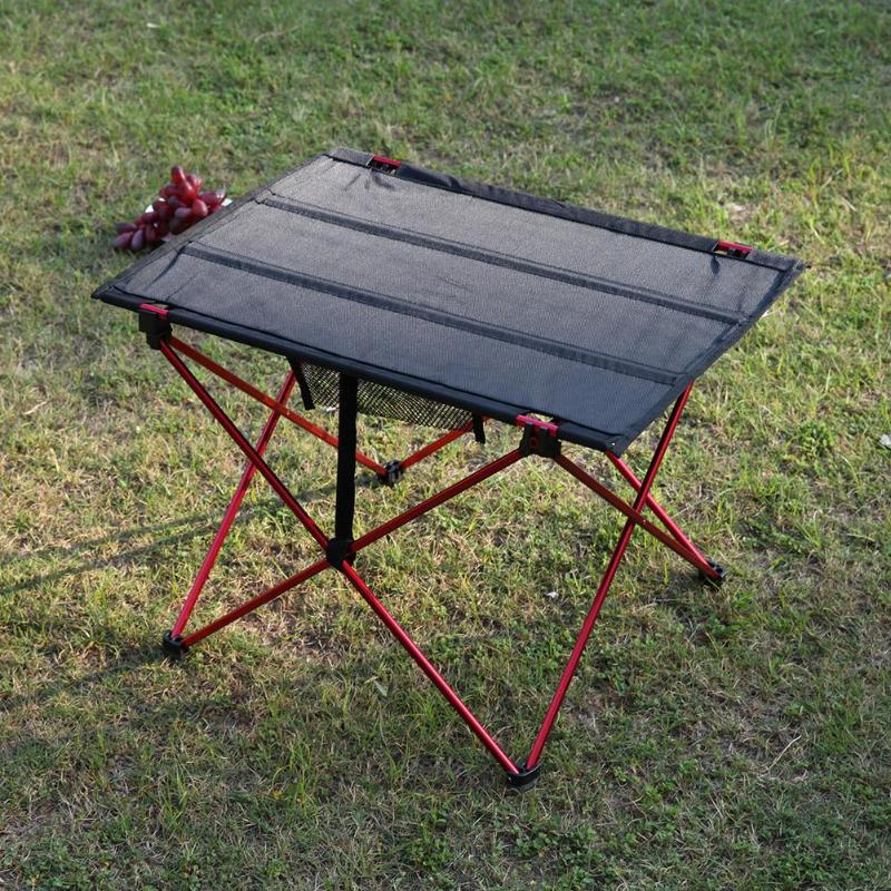 Portable Foldable Table Camping Outdoor Furniture Computer Bed Tables Picnic Aluminium Alloy Travelling Camping Folding Desk-in Outdoor Tables from Furniture
