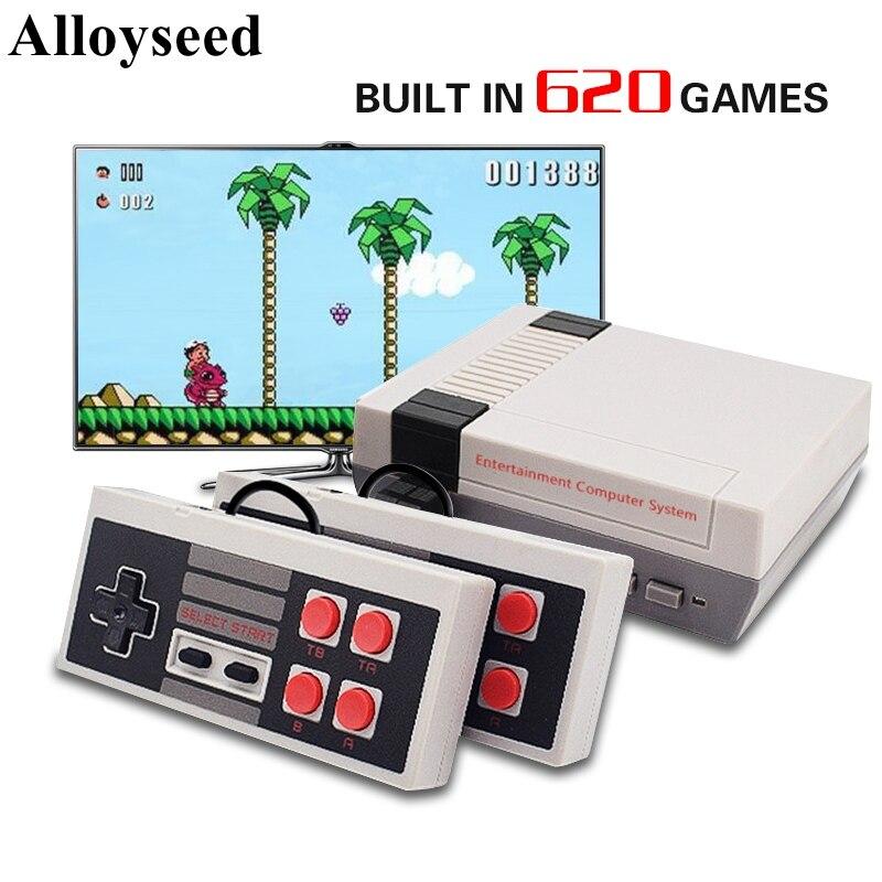 Игровая мини-приставка 8 бит, 620 встроенных игр