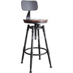 Retro Negara Amerika Gaya Swivel Bar Kursi Bangku Besi Seni Kayu/Lembut Bantal Kursi Tinggi Footstool Diputar Dapat Diangkat Bar kursi