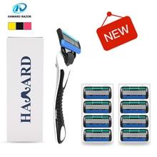 Haward Razor System Shaver Shaving Razor Men's Manual Shaver For Shaving & Hair Removal(8 -Cartridges 5-layer Replacement Blade)