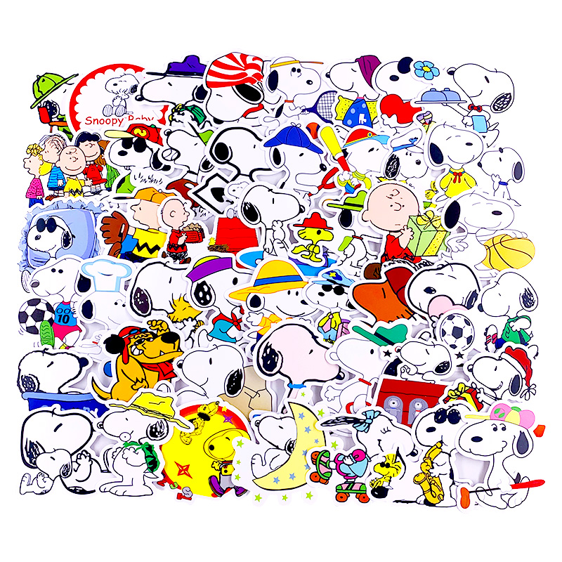 50 PCS Cute Naughty Anime Dog Mini Paper Stickers Crafts And Book Stickers Scrapbooking Decorative Sticker DIY Stationery
