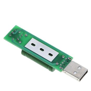 Puerto USB Mini resistencia de carga de descarga medidor de voltaje de corriente Digital probador 2A/1A con interruptor 1A Led verde/2A Led rojo