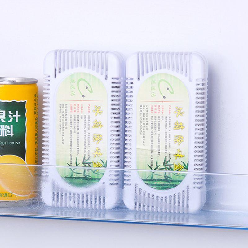 2 коробки, воздухоочиститель для холодильника, бамбуковый уголь, коробка с активированным углем, поглотитель запаха, дезодорант для шкафа, м...