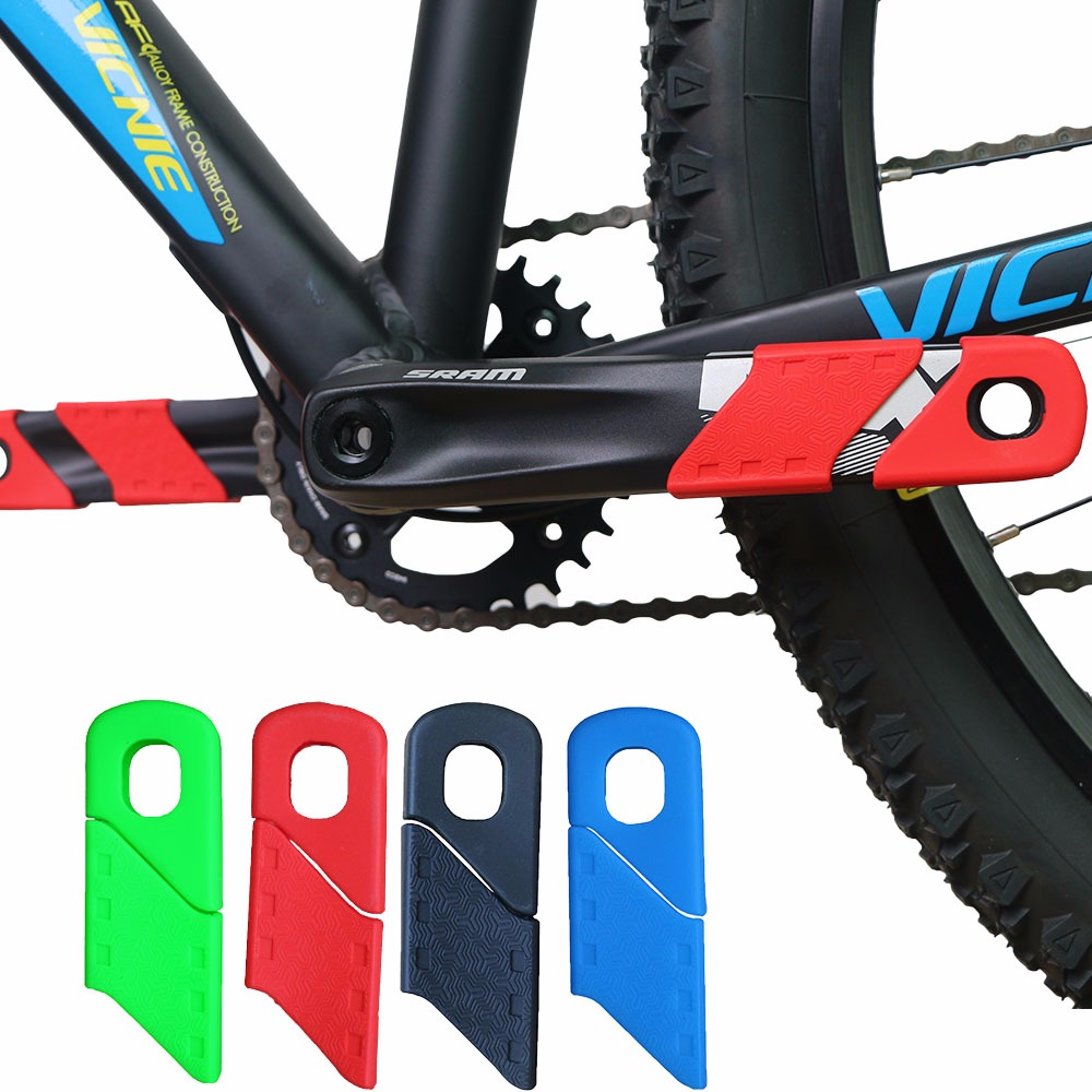 Silicon Crankset Protective Sleeve Crank Arm Protector MTB Mountain Bike