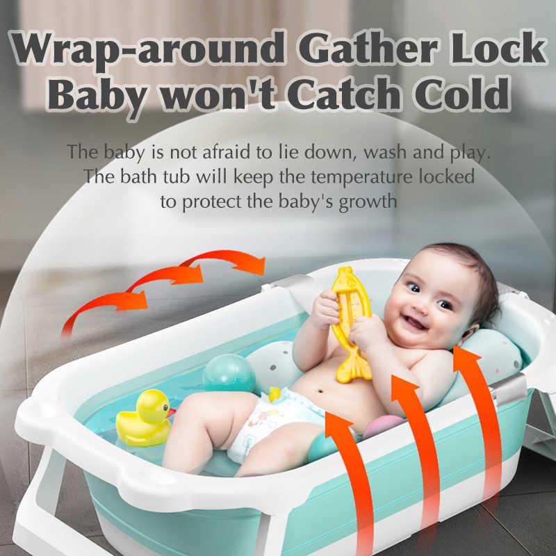 Детские блестящие складной кран для ванной для детей Ванна От 0 до 6 лет Большой Размеры предметы для новорожденных детка ванны сиденье ванна для детей