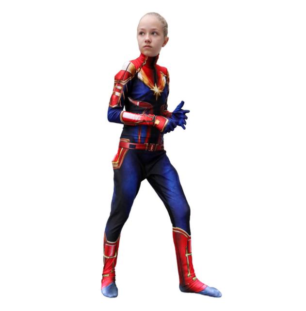 Avengers Captain Marvel Cosplay Halloween For Women