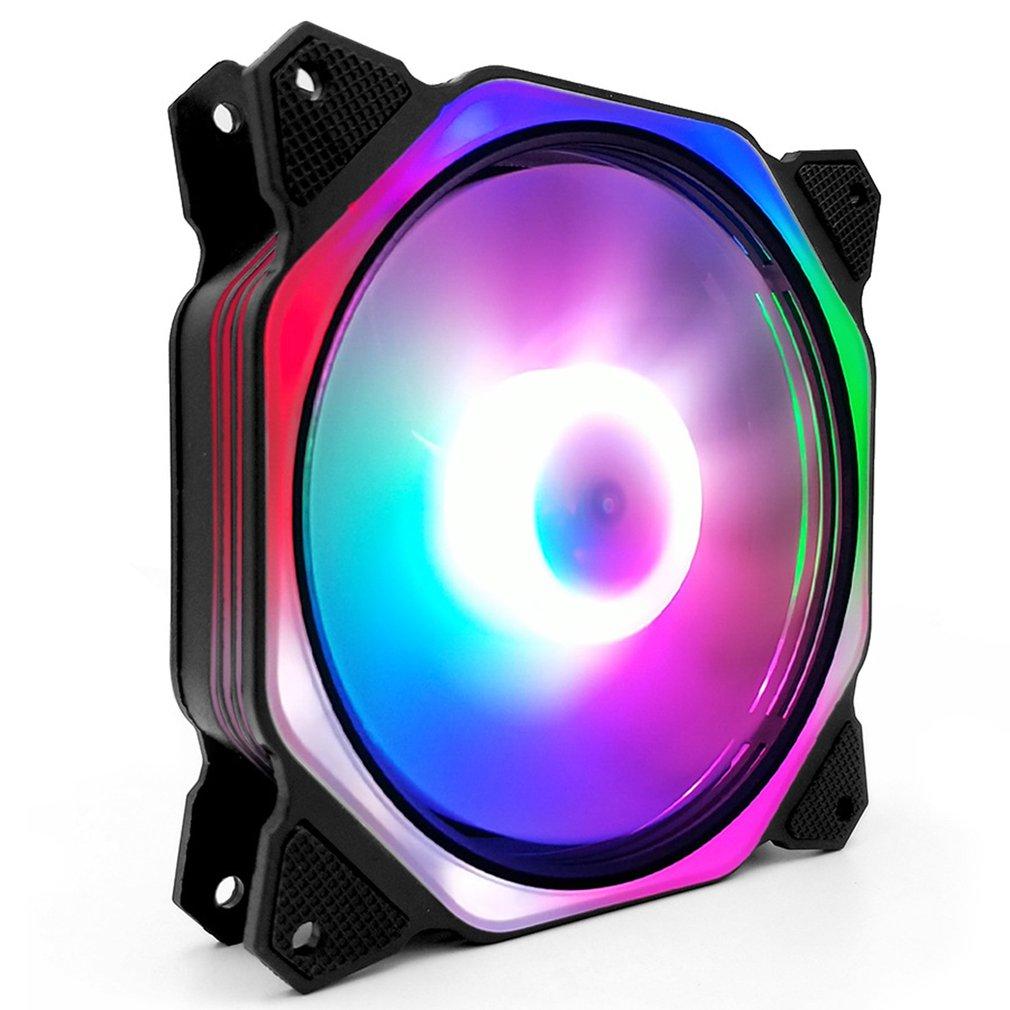Computer PC Case Fan RGB LED Fan Speed 120mm Silent Computer Cooler Cooling RGB Case Fan 12cm