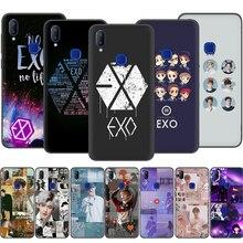 Черный Мягкий Силиконовый ТПУ чехол для Vivo Y11 EXO band k-pop