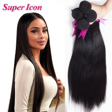 Human-Hair-Bundles Hair-Clip Natural-Extension Malaysia Beauty 8-32-Inches Straight Super-Icon