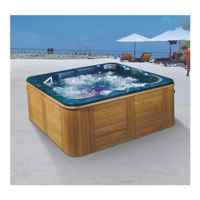 Mulltifunctional forma quadrada acrílico família pátio ao ar livre hidromassagem massagem spa piscina banheiras de hidromassagem-1